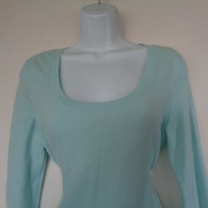 Talbots Cashmere Light Green Sweater Small